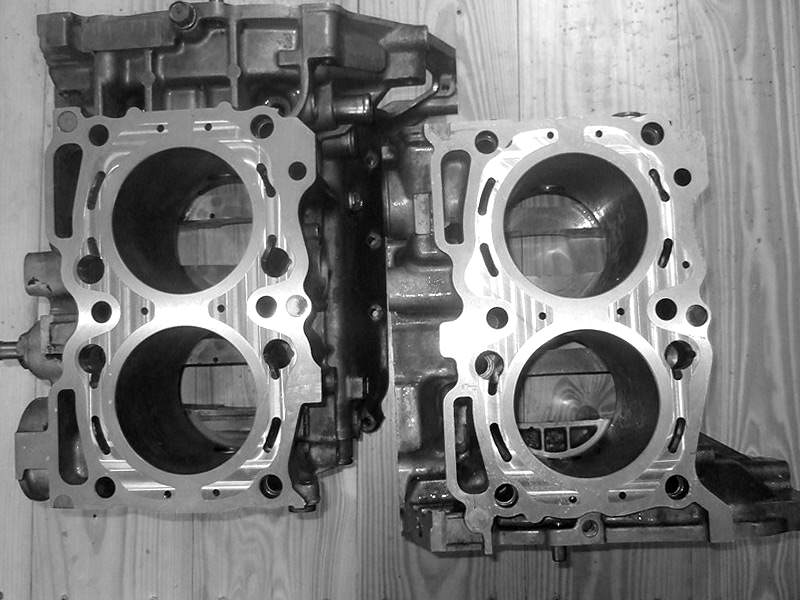Closed SUBARU engine block