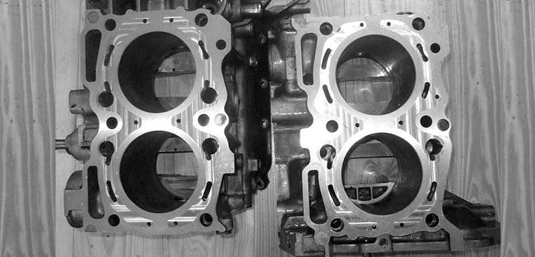 Closing the deck of SUBARU engine blocks